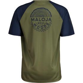 Maloja StachelbeereM. Multi Short Sleeve Multisport Jersey Men, oliwkowy/niebieski
